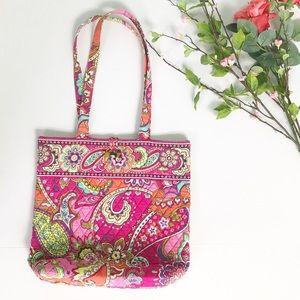 Vera Bradley Tote Bag Pink Swirls Pattern